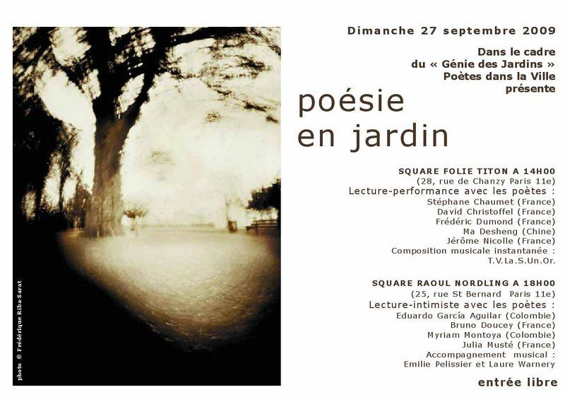 Poesie en jardin 27 septembre 2009