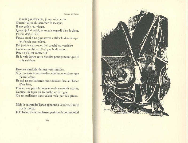 F.Pessoa, Bureau de tabac, gravure III de Fernando de Azevedo, Editions Unes, 1993