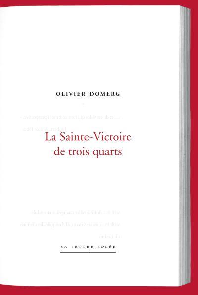 Olivier Domerg  La Sainte Victoire de trois quarts