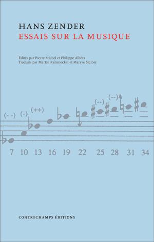 Zender  essais sur la musique