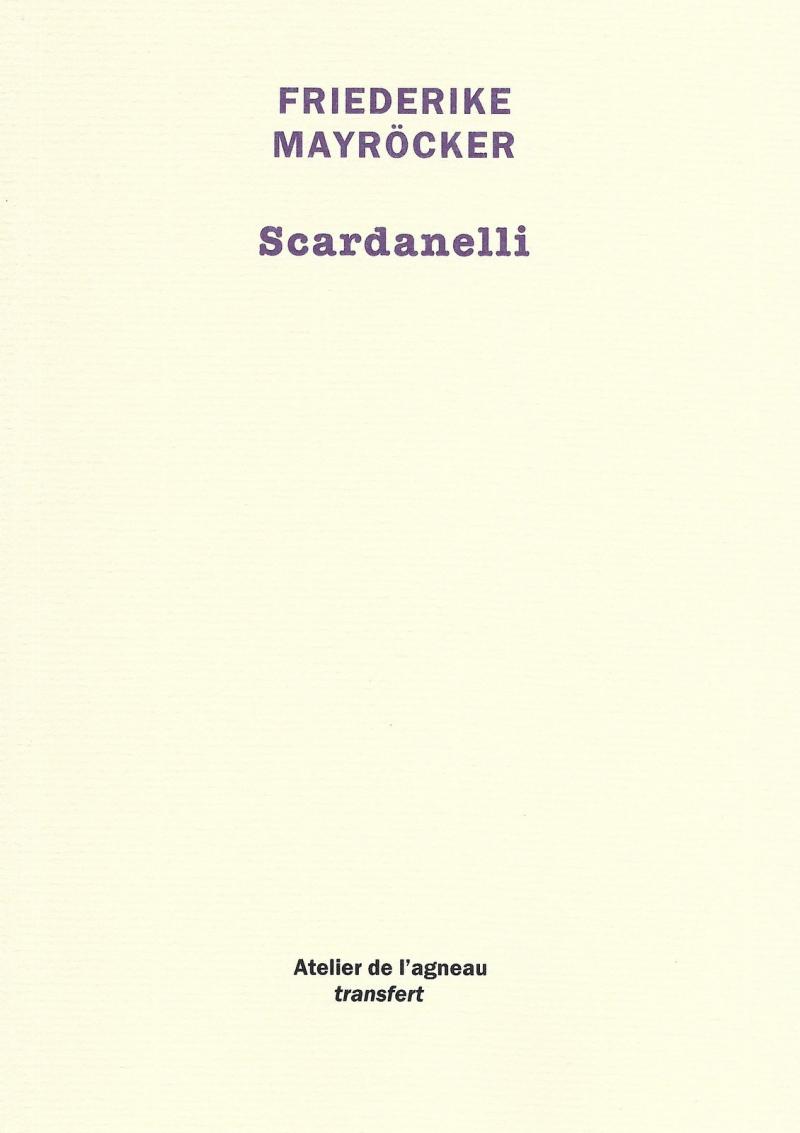 Mayrocker  Scardanelli