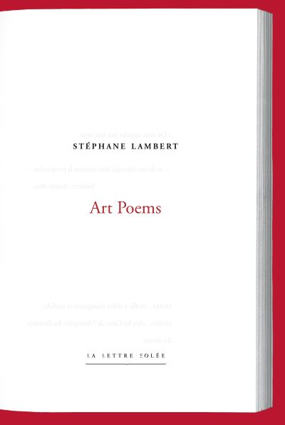 Stéphane Lambert  Art Poems