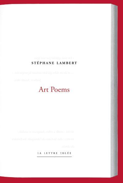 Stéphane Lambert  Art Poems