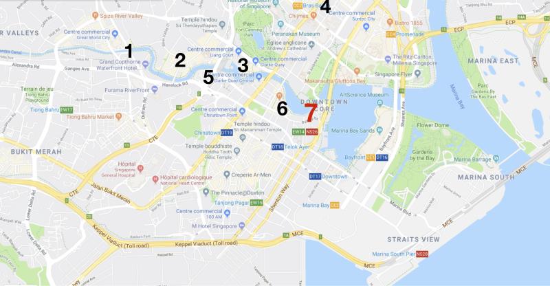 Carte Singapour 7