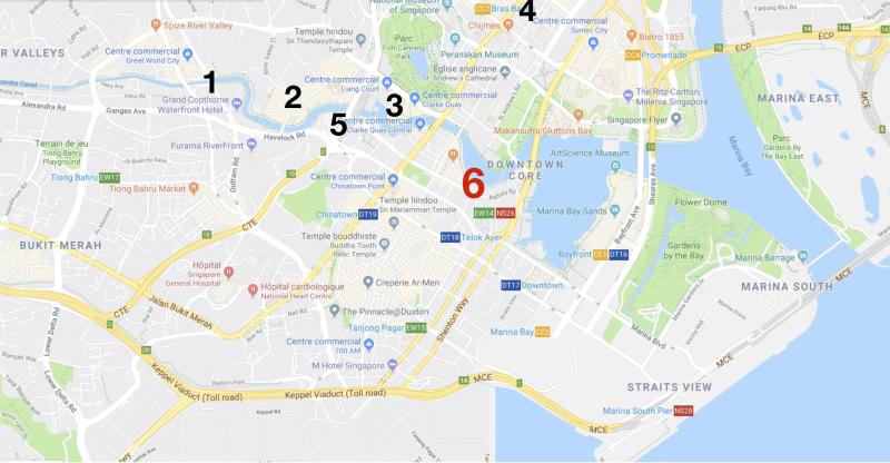 Carte Singapour 6