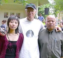 Yu Jian  et Ron Padgett