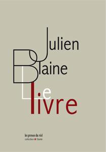 Julien Blaine  le livre