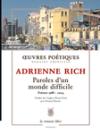 Paroles_d_un_monde_difficile_adrienne_rich_cover