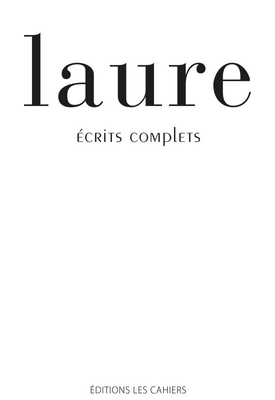 Couverture-Ecrits-complets-Laure