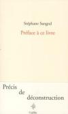 Stéphane Sangral  préface à ce livre.