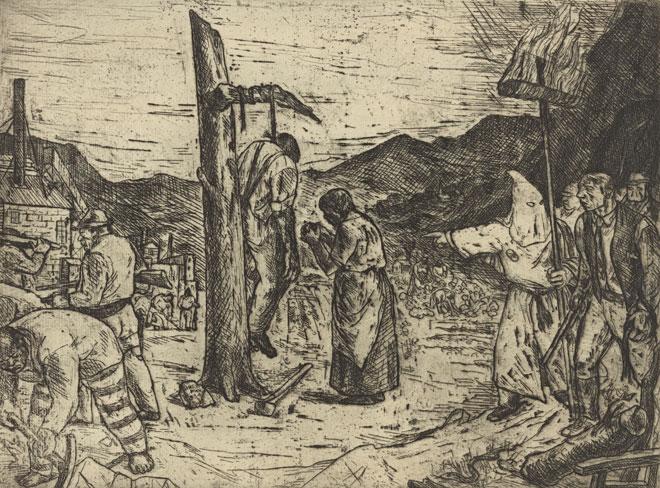 Scene-de-lynchage-dans-le-Sud-par-Philip-Reisman-1934-©-NY-Public-Library-digital-collections