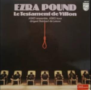 Ezar Pound  le Testament de Villon