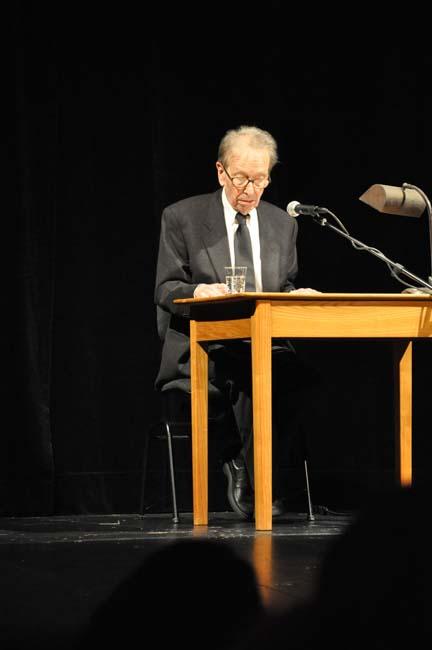 Philippe Jaccottet à Soleure lors de la remise du prix Schiller