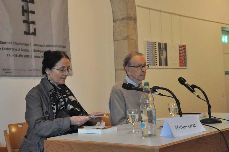 Philippe Jaccottet et Marion Graf  Soleure  2010