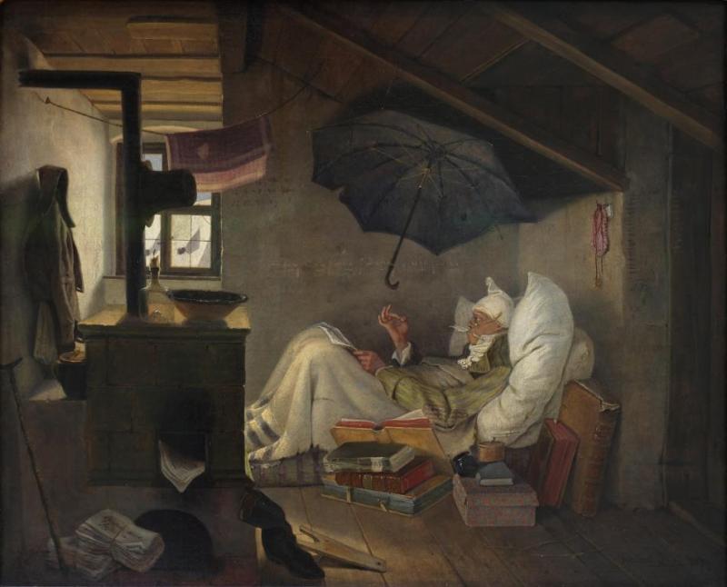 Feuilleton Jouanard The_Poor_Poet_Carl_Spitzweg_1839 - Copie