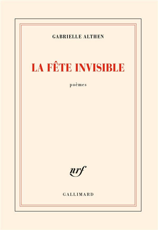Gabrielle Althen  la fête invisible